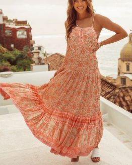 SPELL DRESS HIRE ADELAIDE POINCIANA STRAPPY DRESS GLENELG LOVE WANT NEED HIRE
