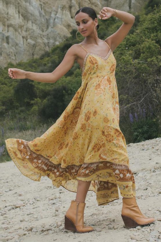 Spell Mystic Maxi Strappy Dress For Hire Glenelg Adelaide.